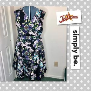 Simply Be Joe Browns Floral Surplice Fit&Flare 24